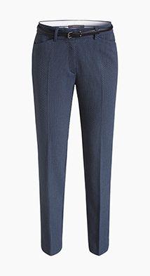 Esprit / Pantalon business jacquard à ceinture