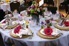 Spring Luncheon {Stage and Table Decoration Ideas}