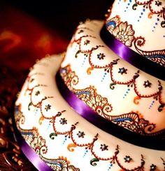 Indian wedding cake ! So pretty !