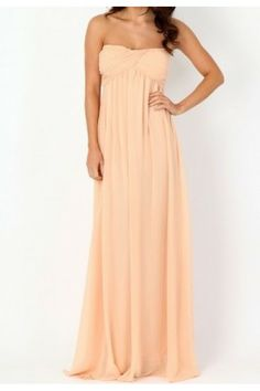 Exclusively E's! Fully lined floor sweeping strapless maxi dress. Gathered sweetheart neckline detail.