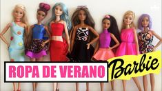 How to make Summer Clothes for your Barbie doll Without Sewing! DRESSES,...