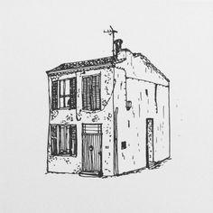 A little house in Marseille.  #marseille #france #sketch #sketching #sketchbook #draw #drawing #illustrate #illustrator #illustration #illustrations #art #artsy #pen #ink #black #white #artwork #artist