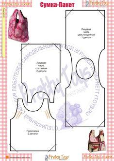 Lots of Tutorials for DIY Bags + Patterns for p .- Tantissimi Tutorial Per Borse Fai Da Te + Cartamodelli per poterle realizzare Lots of Tutorials for DIY Bags + Patterns for making them - Sewing Hacks, Sewing Tutorials, Sewing Crafts, Sewing Projects, Purse Patterns, Sewing Patterns, Diy Couture, Denim Bag, Fabric Bags