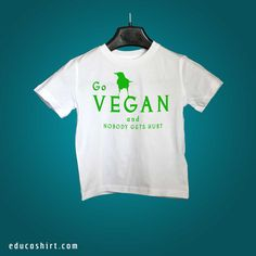 Colourful Vegan-friendly inks now available for our cute vegan kids! All of our t-shirts are fair-trade, eco-friendly, vegan and made with soft 100% organic cotton!
