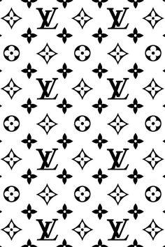 Black White Louis Vuitton iPhone wallpaper