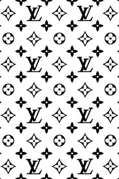 Black & White Louis Vuitton iPhone wallpaper