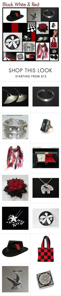 """""""Black White & Red"""" by anna-ragland ❤ liked on Polyvore featuring Antonio Pineda, Mikasa, contemporary and vintage"""