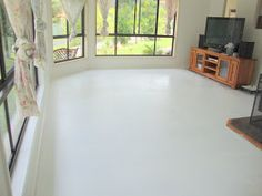 Paint Me White Painted Concrete Floors Bedroom Coatings Bat Flooring