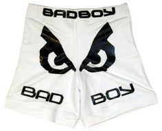 "Bad Boy MMA shorts, 4 way stretch material, 250 gsm.   We offer paypal for 100% secure business.   Features: Bad Boy  model MMA Short, 4 way stretch micro, 250 gsm. T3 Stitching  Embroidered Logo Sizes 30"",32"",34"",36"",38"",40"" All color Combinations available Printing Process: Silk Screen Printing (We use non toxic german ink, LED & Benzine free) with life time guaranty Sublimation Heat Transfer Embroidery"