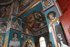 Biserica Sf. Ier. Nicolae - ursutz : gabi : pictura Sf, Altar, Ornaments, Painting, Weaving, Painting Art, Altars, Paintings, Christmas Decorations