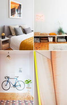 Porte-vélo mural ! - Touches de couleur pour un petit espace à Berlin - DecouvrirDesign