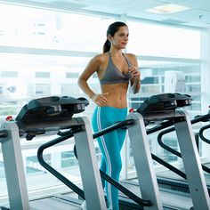 """""""The key to burning fat is interval training on the treadmill,"""" says Alycia Stevenin, trainer at Barry's Bootcamp NYC. """"If you bring the hea..."""