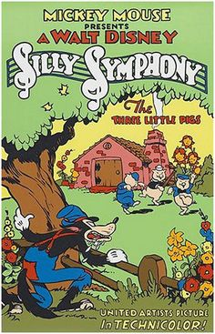 On This Day (May 27, 1933) : Disney Releases 'The Three Little Pigs'. By Verity Vincent