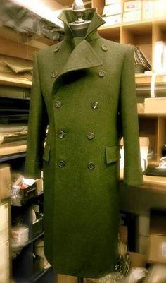 G&H Bespoke Christmas Delivery: Wool/Alpaca Loden Greatcoat, 2014 Der Gentleman, Gentleman Style, Sharp Dressed Man, Well Dressed, Suit Fashion, Mens Fashion, Man's Overcoat, Bespoke Tailoring, Casual Blazer