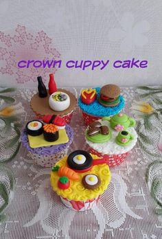 Food theme cupcakes