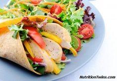 Low-Calorie Turkey Avocado Wrap   Super tasty and just 135 calories! NutritionTwins.com