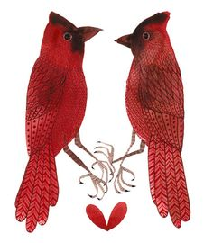 my grandmother loved red birds so every time i see one it reminds me of her