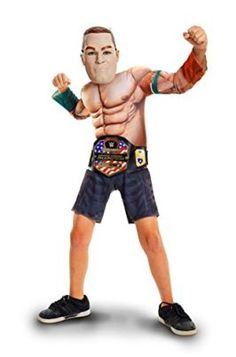 WWE John Cena Deluxe Muscle Suit with Championship Title Belt Dress Up Costumes, Boy Costumes, Adult Costumes, Costumes For Women, Halloween Costumes, Wrestling Costumes, John Cena, Wwe Superstars, Age 3