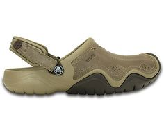 It's more rugged than it looks, with a combination of water-friendly leather uppers and molded Croslite™ foam body. It's light, works on or off the trail, yet still has all of the Crocs comfort and cushion you love. The adjustable heel strap also lets you get a secure, comfortable fit. Free shipping on qualifying orders.