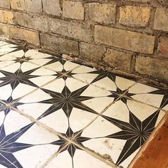 Star Ceramic Wall and Floor Tile 18 x 18 in. - Star Ceramic Wall and Floor Tile 18 x 18 in – The Tile Shop - Ceramic Floor Tiles, Bathroom Floor Tiles, Wall And Floor Tiles, Hall Tiles, Tiled Hallway, Painting Tile Floors, Painted Floors, Vintage Tile Floor, Stenciled Floor