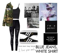 """""""OOTD #88"""" by amyjayneholls ❤ liked on Polyvore featuring Topshop, adidas Originals, women's clothing, women, female, woman, misses and juniors"""
