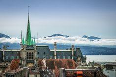 Le clocher, le lac et les nuages by Sly Deshaies, via 500px