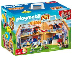 Amazon.com: Playmobil My Take Along Pet Clinic: Toys & Games