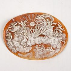 "Large shell cameo depicting Venus' chariot: 19th/20th c., Italian, 3.25""h x 4.25""l"