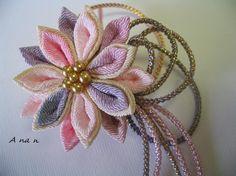 ゆかた姿に髪飾りをつけて花火やお祭りにお出掛け下さい♪ 小ぶりの花飾りに飾り紐をあしらったクリップ付きコサージュピンです。付ける角度により垂れ下る飾り紐の表情...|ハンドメイド、手作り、手仕事品の通販・販売・購入ならCreema。