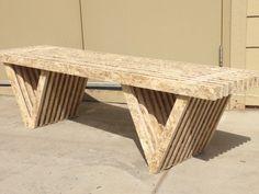 osb slat bench unfinished by modosb on Etsy