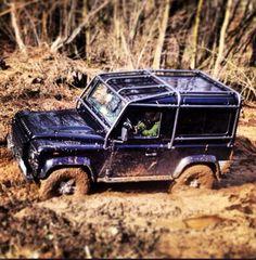 """Porthos"" Muddy Sunday Land Rover Defender"