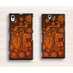 elephant pattern Sony case,art wood elephant xperia Z3 case,classical elephant Sony xperia Z2 case,art elephant xperia Z1 case,most popular xperia Z case,Christmas gift - Sony Case