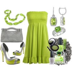 Beautiful color combo cool grey with lime  http://www.polyvore.com/pink_lime_green_candy_colored/set?id=10133728  shoes $40.00