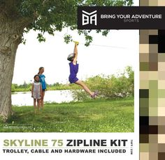 BYA Skyline 75-ft backyard zipline kit
