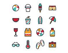 Summer Season Icon Flat Design Icons, Icon Design, William Gibson, Holiday Icon, Something Something, Wacom Intuos, Jobs Apps, Summer Baby, Kenya