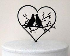 Hochzeitstorte Topper - zwei Tauben in Liebe Hochzeitstorte topper