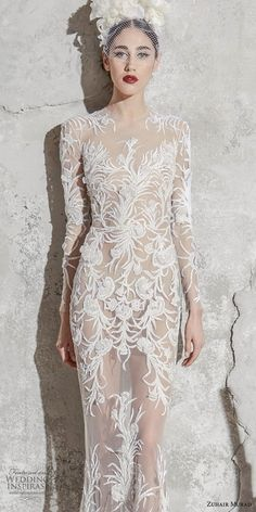 Zuhair Murad Spring 2020 Wedding Dresses Zuhair Spring 2020 bridal collection translates the romance of Spain into wedding dresses of exquisite femininity, embellished with details like elaborate Western Wedding Dresses, Sexy Wedding Dresses, Wedding Dress Sleeves, Designer Wedding Dresses, Bridal Dresses, Wedding Gowns, Modest Wedding, Lace Wedding, Zuhair Murad