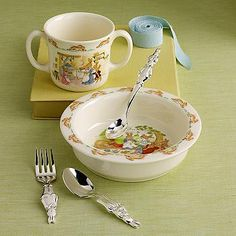 Peter Rabbit baby dishes...all of us had these, Nana Mander bought them in England. I will have to get MY granddaughters a set, if they want! Unique Baby Gifts - Create Lasting Memories — GottaHaveBling