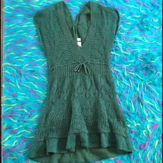 •MAKE OFFERS• Blue Mohair Knitted Tunic/Dress Color more like the last photo but also depends on lighting. Ask any questions!❤️✨ Kimchi Blue Dresses
