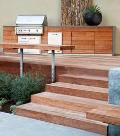 Gathering Table - Contemporary - Patio - san francisco - by Arterra LLP Landscape Architects Design Grill, Deck Design, Design Wood, Barbecue Design, Terrace Design, Railing Design, Design Design, Modern Deck, Contemporary Patio