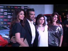 Shilpa Shetty, Raj Kundra & Shamita Shetty at Fast and Furious 7 screening.