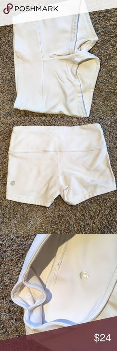 White shorts Lu lu lemon, barley worn, super good condition, size 2, white lululemon athletica Other