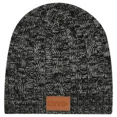 29d7918660f Knit Beanie With Leather Tag  100% Acrylic With Leather Tag. One Size Fits