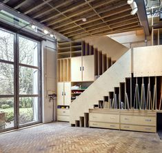 Studio Space with Storage Unit and Integral Staircase • Greville Road • London • Syte Architects • 2015