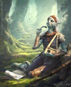 Lithe Lyricist by wootha | Illustration | 2D | CGSociety