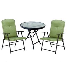 Outdoor 3-Piece Patio Garden Set Furniture Seats 2 Chairs Cushions Backyard #Mainstays