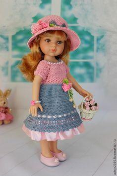 """Комплект """"Нежность"""" - бледно-розовый,одежда для кукол,нарядное платье"""