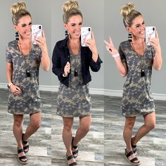 Camo Crush Dress - privityboutique #momstyle #summerstyle #summeroutfit #camo #camojoggers #beachstyle #ootd #bossbabe #casualoutfit #easyoutfit #camotop #camofashion #funinthesun #vacay #summervibes #fashionblogger #styleblogger #camostyle #camodress #camooutfit #summer Cute Camo Outfits, Camo Dress, Camouflage Dresses, Camo Fashion, Summer Dress Outfits, Fall Outfits, Layered Fashion, Weekend Wear, Comfortable Outfits