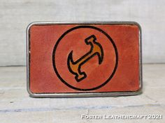 With the Stonecutter logo from the Simpsons The Simpsons, Leather Craft, The Fosters, Logo, Products, Leather Crafts, Logos, Gadget, Environmental Print