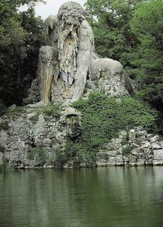 The Apennine Colossus  is about 12 km from Florence, Italy